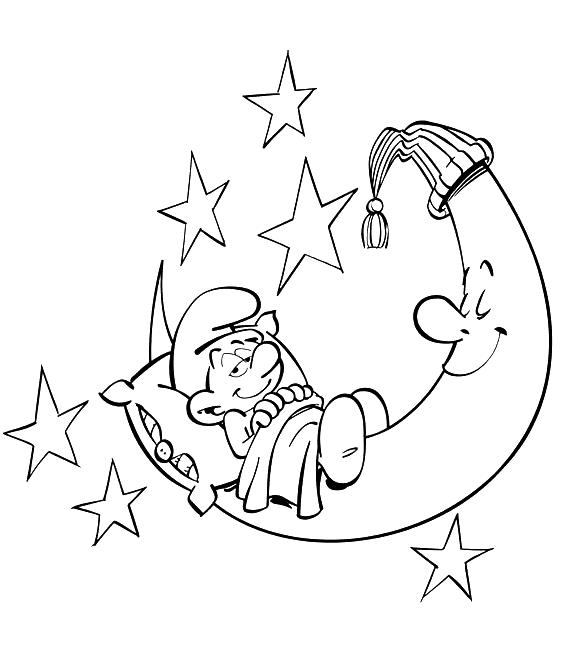 Смурф-лінивець Розмальовки Розмальовки Смурфіки