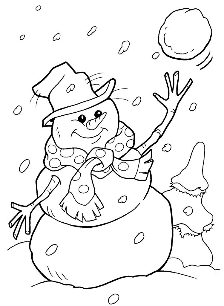 Сніговик розмальовки розмальовки
