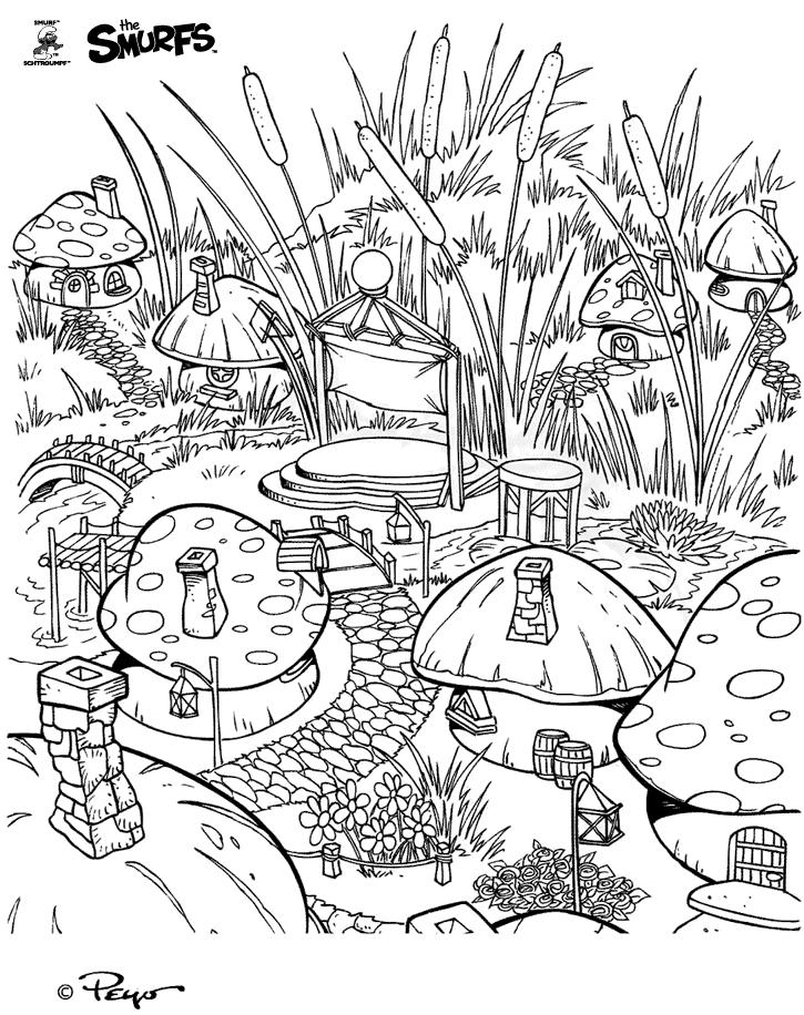 Селище Смурф Розмальовки Розмальовки Смурфіки