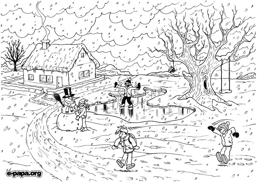 Картинки для дітей на тему зима