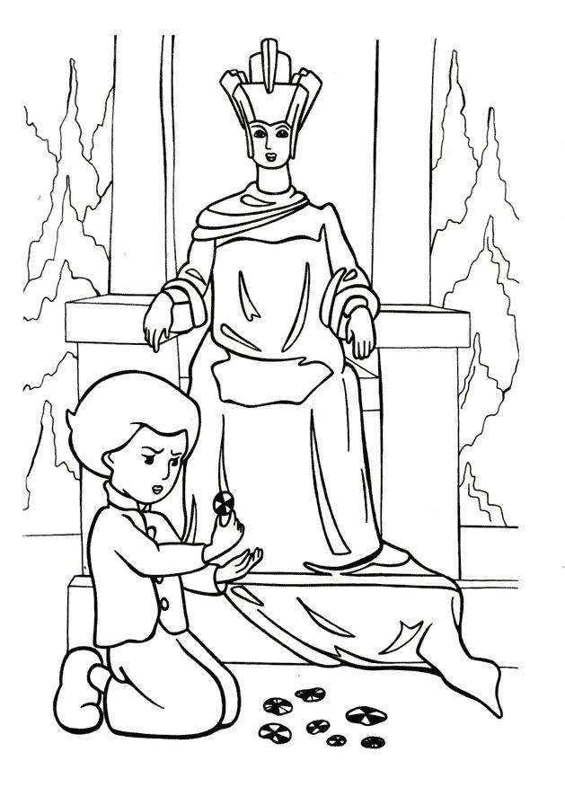 Кай і Снігова королева Розмальовки Снігова Королева