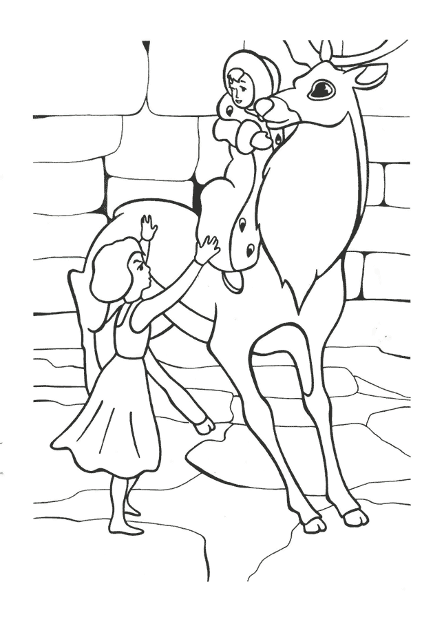 Герда вирушила на пошуки Кая Розмальовки Снігова Королева