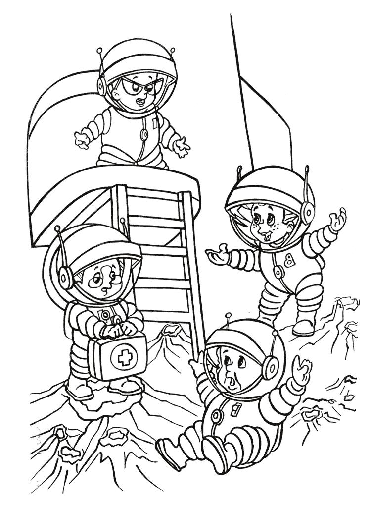 Незнайко на Місяці Розмальовки Незнайко