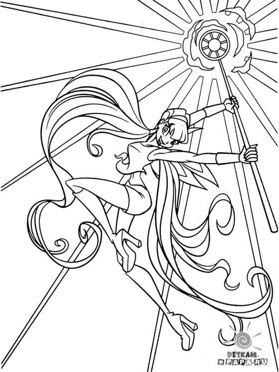 Розмальовки для дітей Winx