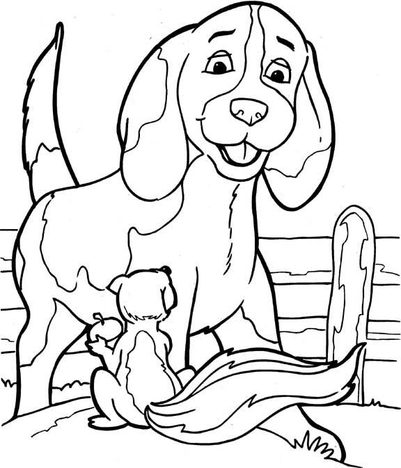 Paard Hart Kleurplaten Розмальовки для дітей Собака
