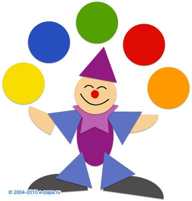 Клоун дитяча аплікація