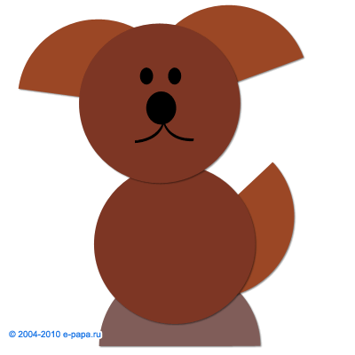 Аплікація собачка