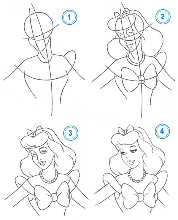 Як намалювати Попелюшку Як намалювати принцес. Малювання 518aad8b39e8a